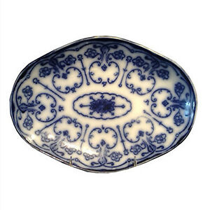 Antique Flow Blue Platter
