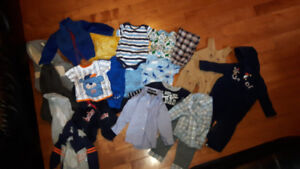 Baby boy clothes 3 to 12 months.