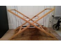 Natural wood Mamas & Papas moses Basket stand - £10