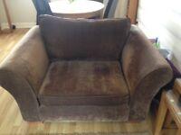 Brown Next snuggle chair