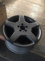 "18"" staggered genuine AMG wheels"