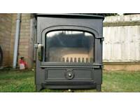 FOR SALE CLEARVIEW VISION 500 8KW MULTI-FUEL WOODBURNING STOVE