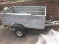 5x3 galvanised steel trailer