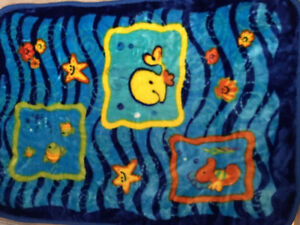 New in package Fisher price ocean wonders thick baby blanket