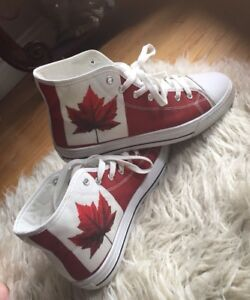 Canada 150 Converse style high tops