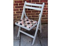 Quaint Wooden Folding Dining/Living/Kitchen Chair painted in Flint Grey colour