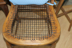 2 Antique Chairs ( refurbished & very sturdy )