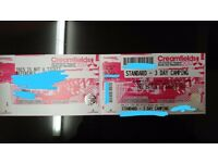 Bargain!! Creamfields 2017 3 Day Standard Camping ticket
