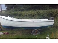 16ft orkney longliner, galvanized trailer, 9.9hp outboard