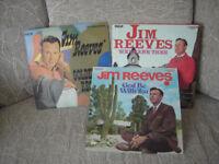 3 x Jim Reeves 12 inch vinyl albums LP's
