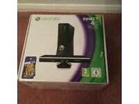Microsoft Xbox 360 with Kinect 4GB Black Console, Game and Extra Controller.