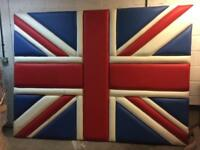Huge Union Jack. Upholstered wall plaque - feature wall