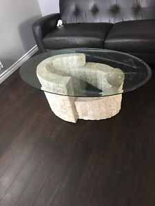 Catalina Coffee Table and side table glass