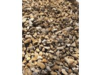 Autumn gold garden and driveway chips/stones
