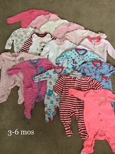 Baby girl clothes - Sleepers 3-6mos