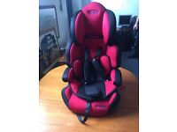 DIMPLES RED/BLACK TODDLER KIDS CHILDREN'S BOOSTER CAR SEAT