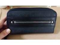 New Ladies Womens Black Large Purse