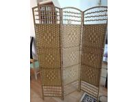 Hartley's three panel wicker room divider - Brand new and unused