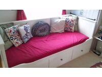 Ikea white sofa bed (Hemnes) for sale