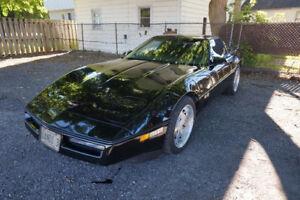 1989 Black Corvette
