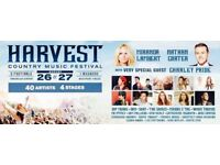 2 x 2 Day Tickets for HARVEST COUNTRY MUSIC FESTIVAL (Enniskillen) - 26th-27th August 2017