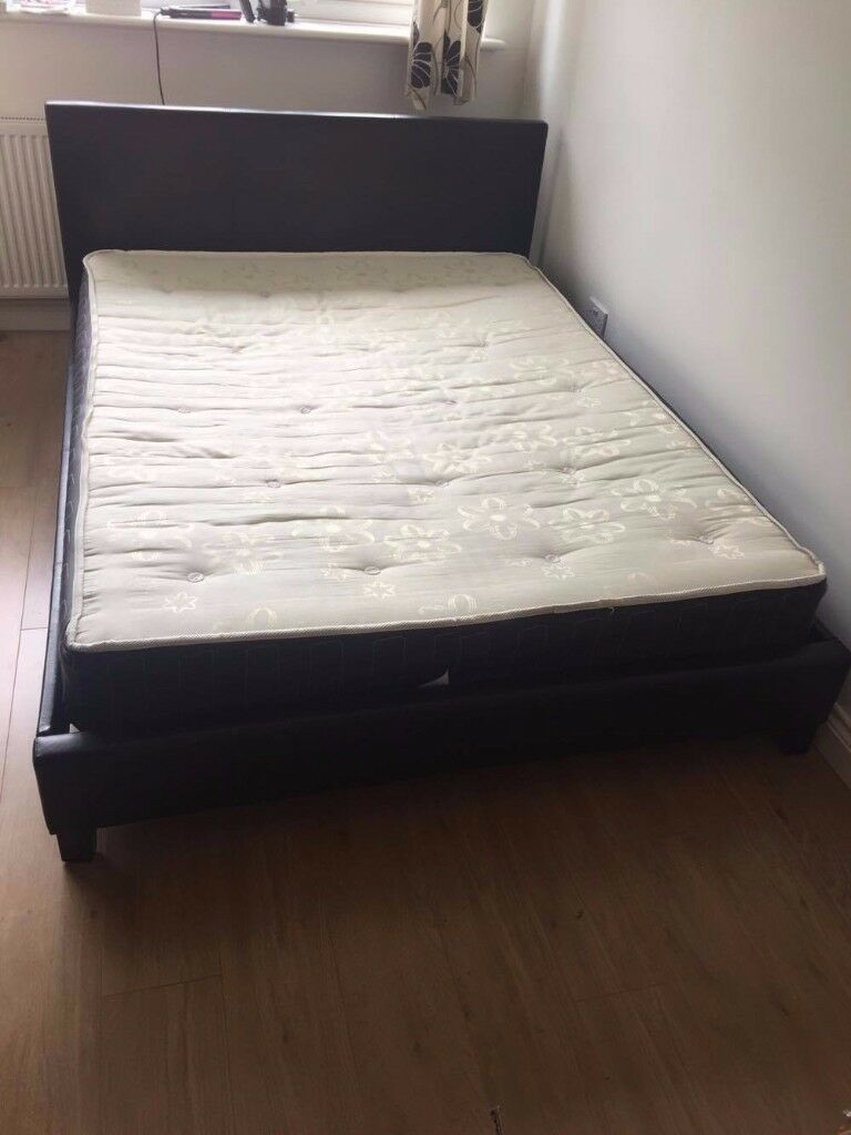 KING SIZE BED + MATTRESS FOR SALE