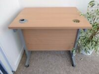 Beech effect computer desk