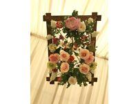 Wedding flower chandelier x 3 decoration
