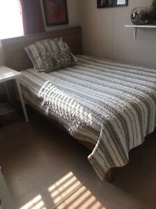 Double Bed with 2 storage drawers underneath