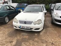 MERCEDES C180 KOMPRESSOR AUTO FACE LIFT SPARS OR REPAIRS STARTS AND DRIVES