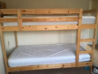 BUNK BED IKEA LIKE NEW WITH SPRUNG MATTRESSES 'HAMARVIK'
