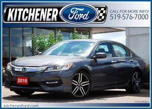 2016 Honda Accord Sport LEATHER/ROOF/CAMERA/HTD SEATS/ONLY 24...