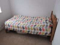 Pine sinle bed