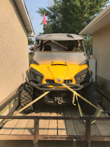 2013 Can-Am Commander 1000 XT and Cargo Trailer