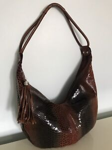 BEAUTIFUL REAL SNAKESKIN MISS MAK CANADIAN DESIGNER BAG