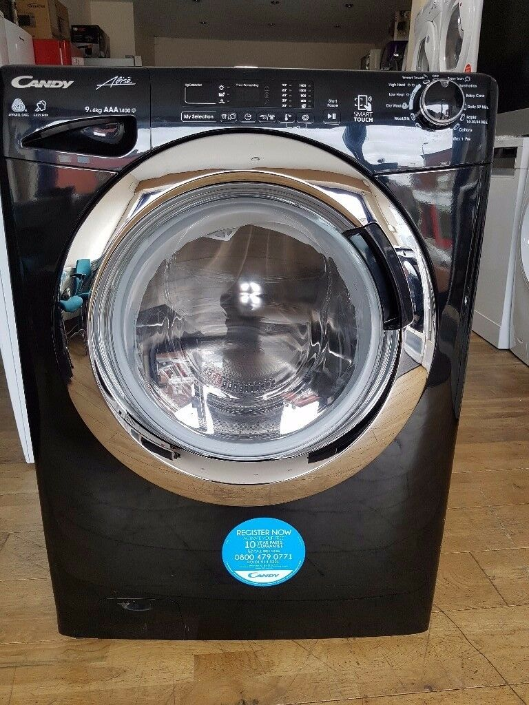 Candy Washer Dryer Gvsw496dcab 9kg Wash 6kg Dry 1400 Spin Black