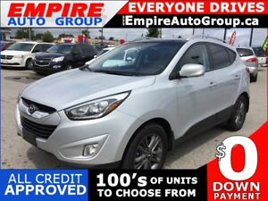 2014 HYUNDAI TUCSON SE * LEATHER/CLOTH * REAR CAM * SUNROOF * BL