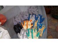 10 pr of high quality work gloves