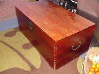 old mahogany chest