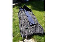 Rods, net, bag, bivvy, umbrella bundle