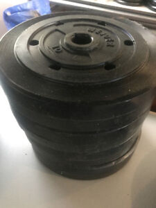 40 LBS Weight Lifting Plates - Plastic