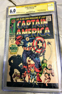 Marvel Captain America #100 CGC 6.0 SS signed by Stan Lee