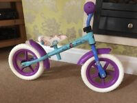 Disney Frozen Balance Bike For Sale 12""