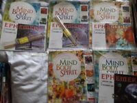 MIND, BODY, SPIRIT MAGAZINES X5 *BRAND NEW IN WRAPPERS* - RUNCORN
