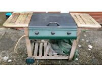 Outback 3 burner gas BBQ with waterproof cover
