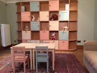 Playroom / Bedroom kids shelving and storage unit - cost £5,000.