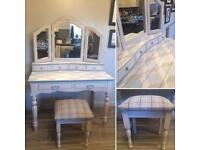 Upcycled Handpainted Dressing Table