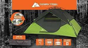 NEW ''OZARK TRAIL'' 4 MAN TENT WITH RAINFLY ''WATERPROOF''