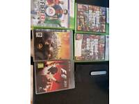 Xbox 360 and hard drive and ps3 games
