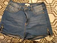 River Island Size 14 denim shorts